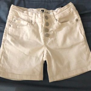 7 For All Mankind white shorts Girls Sz 12